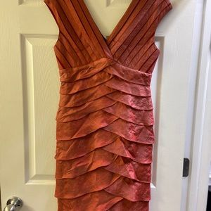 Adrianna Papell, Red Tiered Cocktail Dress 6